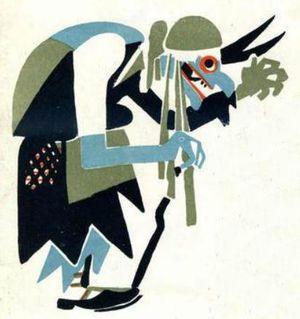 Cuento de miedo de la bruja Baba Yaga para niños en Halloween